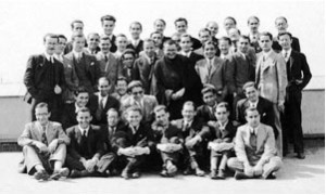 Members and friends of Opus Dei with his Founder, in the DYA Residence, Madrid 1935