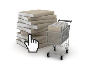 E-shopping, bookshop concept illustration