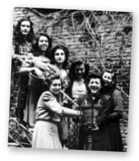 Giovani studentesse della residenza Zurbarán